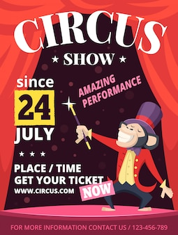 Placard of circus invitation poster