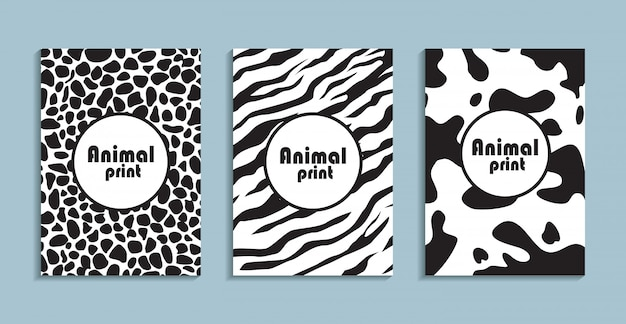 Placards with abstract liquid , 80s design elements.