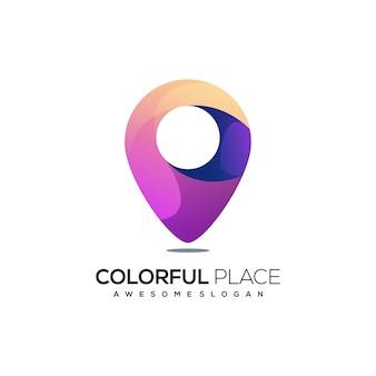 Place logo colorful gradient illustration