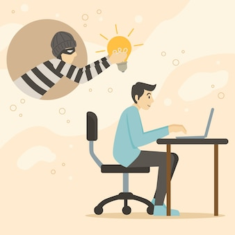 Plagiarism concept illustration