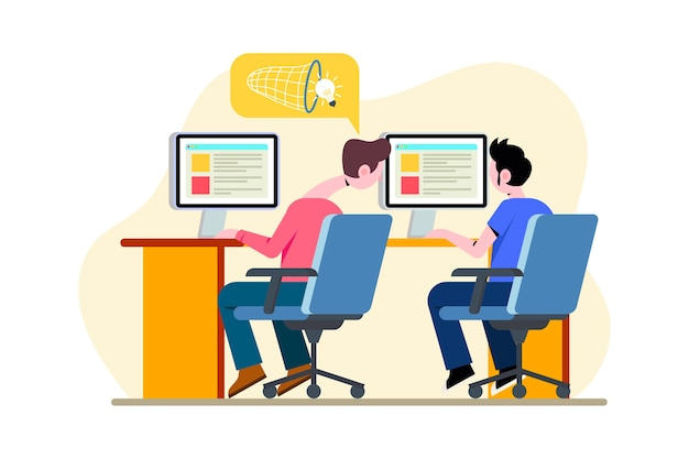 Концепция плагиата с коллегами на работе