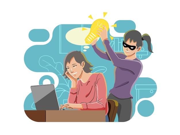 盗作、アイデアの概念を盗む