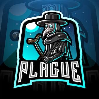 Plague doctor esport mascot logo