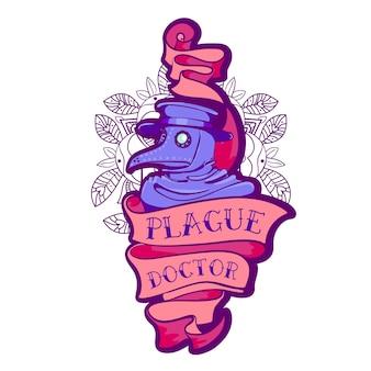 Plague doctor. tattoo