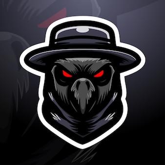 Plague head mascot esport illustration
