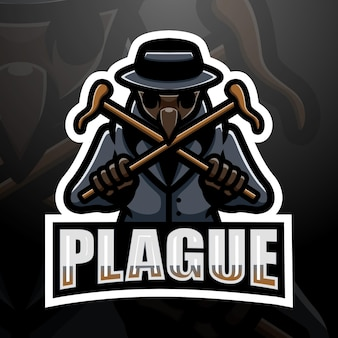 Plague mascot esport illustration