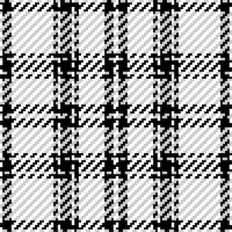 Plaid check pattern in black and white