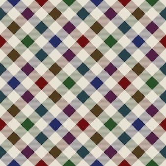 格子縞素材緑赤青シームレスパターン