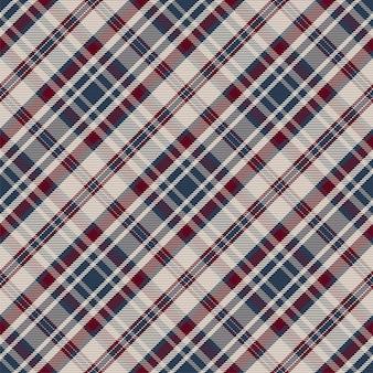 원활한 격자 무늬 패턴입니다. 패브릭 질감을 확인합니다. 스트라이프 사각형 배경입니다. 벡터 섬유 디자인 타탄입니다.