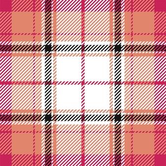 원활한 격자 무늬 패턴입니다. 패브릭 질감을 확인합니다. 스트라이프 사각형 배경입니다. 벡터 섬유 타탄 디자인입니다.