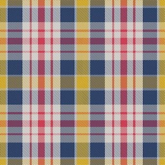 원활한 격자 무늬 패턴입니다. 패브릭 질감을 확인합니다. 스트라이프 사각형 배경입니다. 프리미엄 벡터