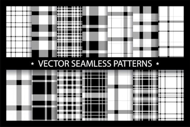 격자 무늬 패턴 원활한 화려한 세트