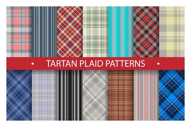 Plaid pattern seamless ornate