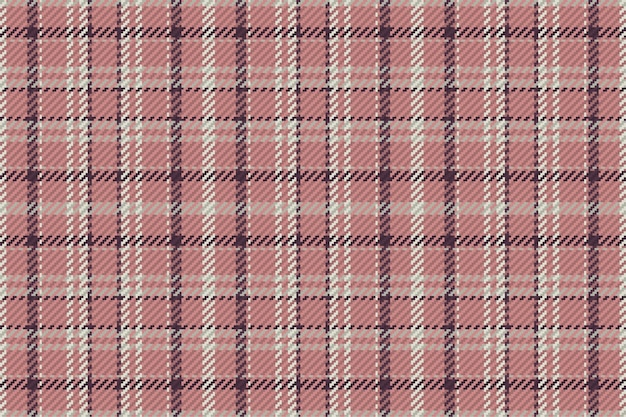 Plaid pattern seamless vector background. tartan check stripe texture for flannel shirt or other modern fabric design.