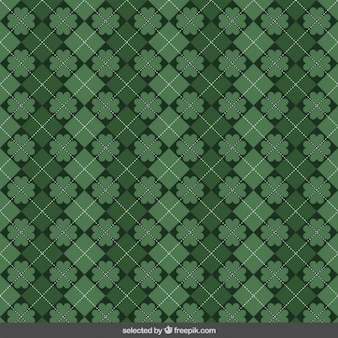 Plaid pattern of st. patricks