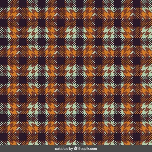 Plaid pattern in vintage style