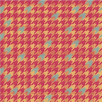 Plaid pattern with houndstooth