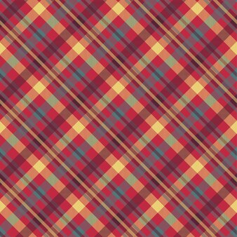 Plaid red color seamless pattern
