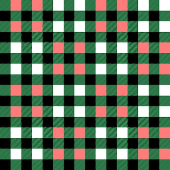 Plaid seamless pattern in green white and pink tartan plaid