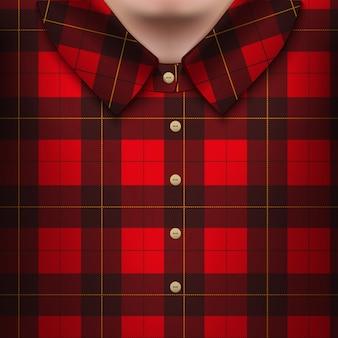 Plaid shirt on man body