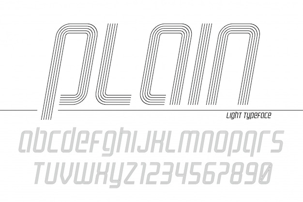 Plain display font popart , alphabet, letters and numbers