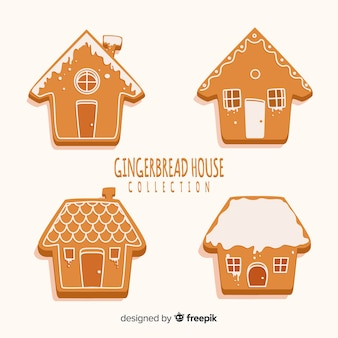Plain gingerbread house pack