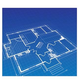 Планируйте загородный дом на цветном фоне