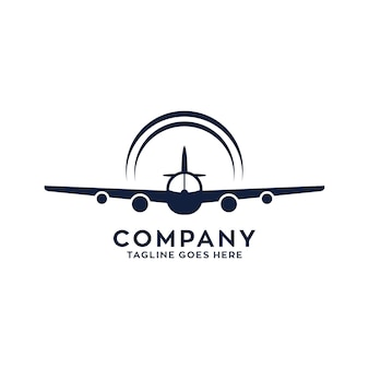 Plane fly logo design