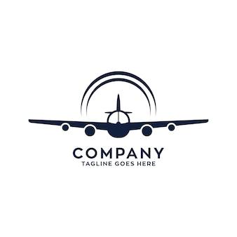 飛行機飛ぶロゴデザイン