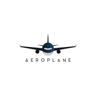 Plane front side graphic design template isolated