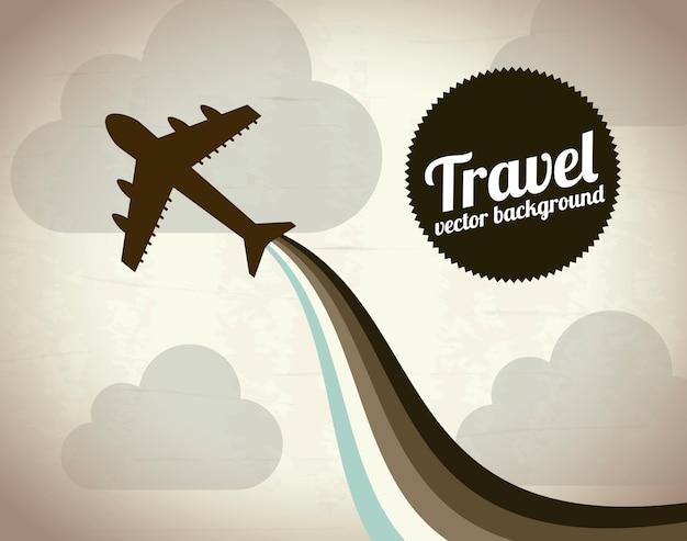 Plane icon over vintage background vector illustration