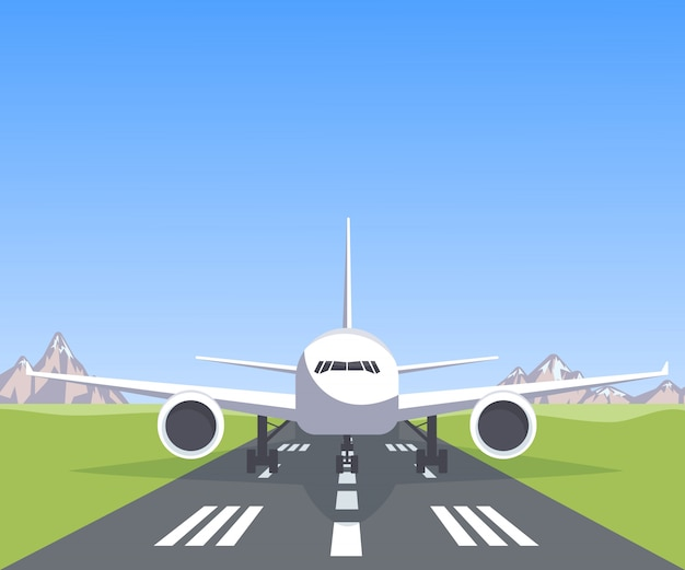 Plane on the runway