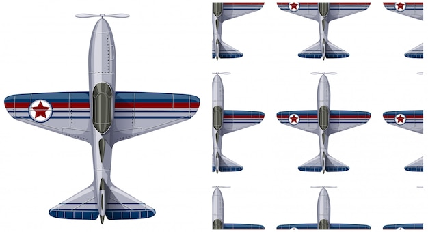 Plane seamless pattern isolated on white