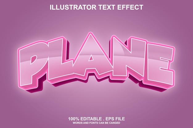 Плоский текстовый эффект редактируемый