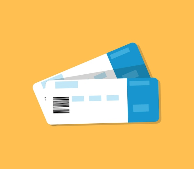 Plane tickets are isolated vector illustration in flat style