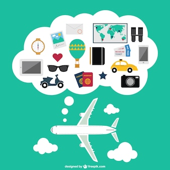 Vettoriale viaggio aereo