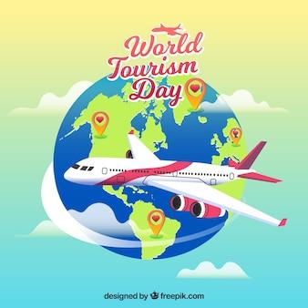 Un viaggio aereo, giorno del turismo mondiale