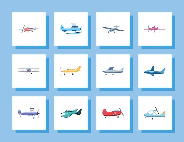 Самолеты на белом фоне