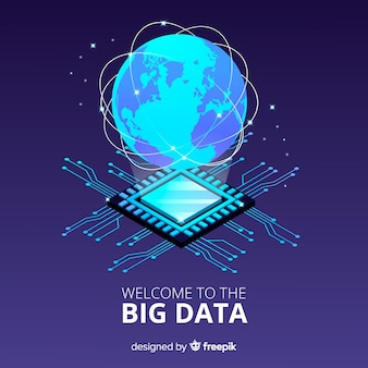 Planet big data background