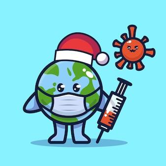 惑星地球がウイルスと戦う