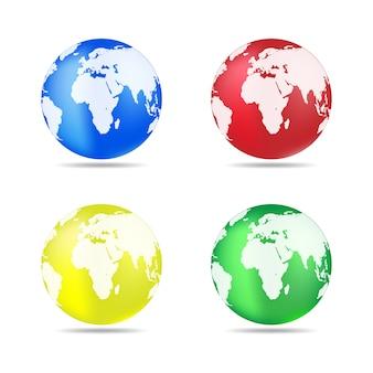 Planet earth icon.  illustration.