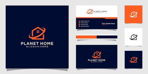 로고 및 명함 디자인을위한 플래닛 홈 빌드 개요