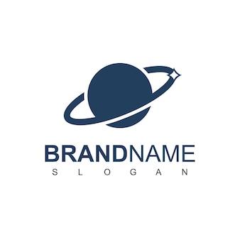 Planet logo design template Premium Vector