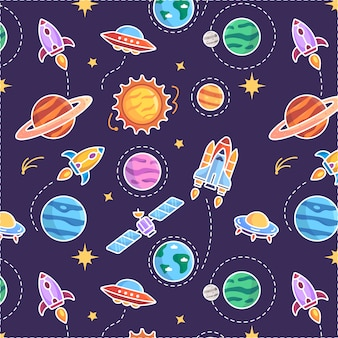 Planet pattern background