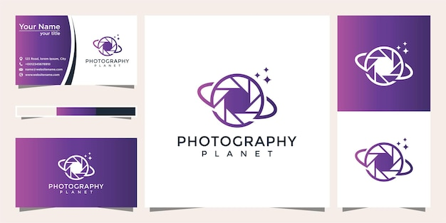 Planet photography logo design and business card