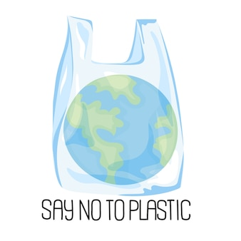 Planet plastic ecological problem