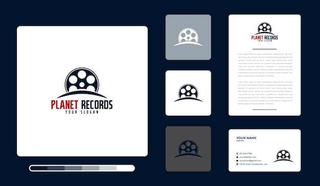 Planet records logo design template