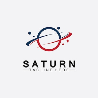 Planet saturn logo vector illustration design. planet logo template. space logo vector