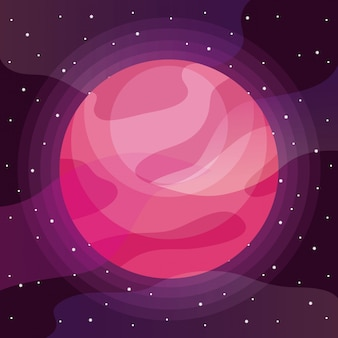 Planet space universe icon