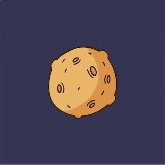 Planet symbol social media post vector illustration